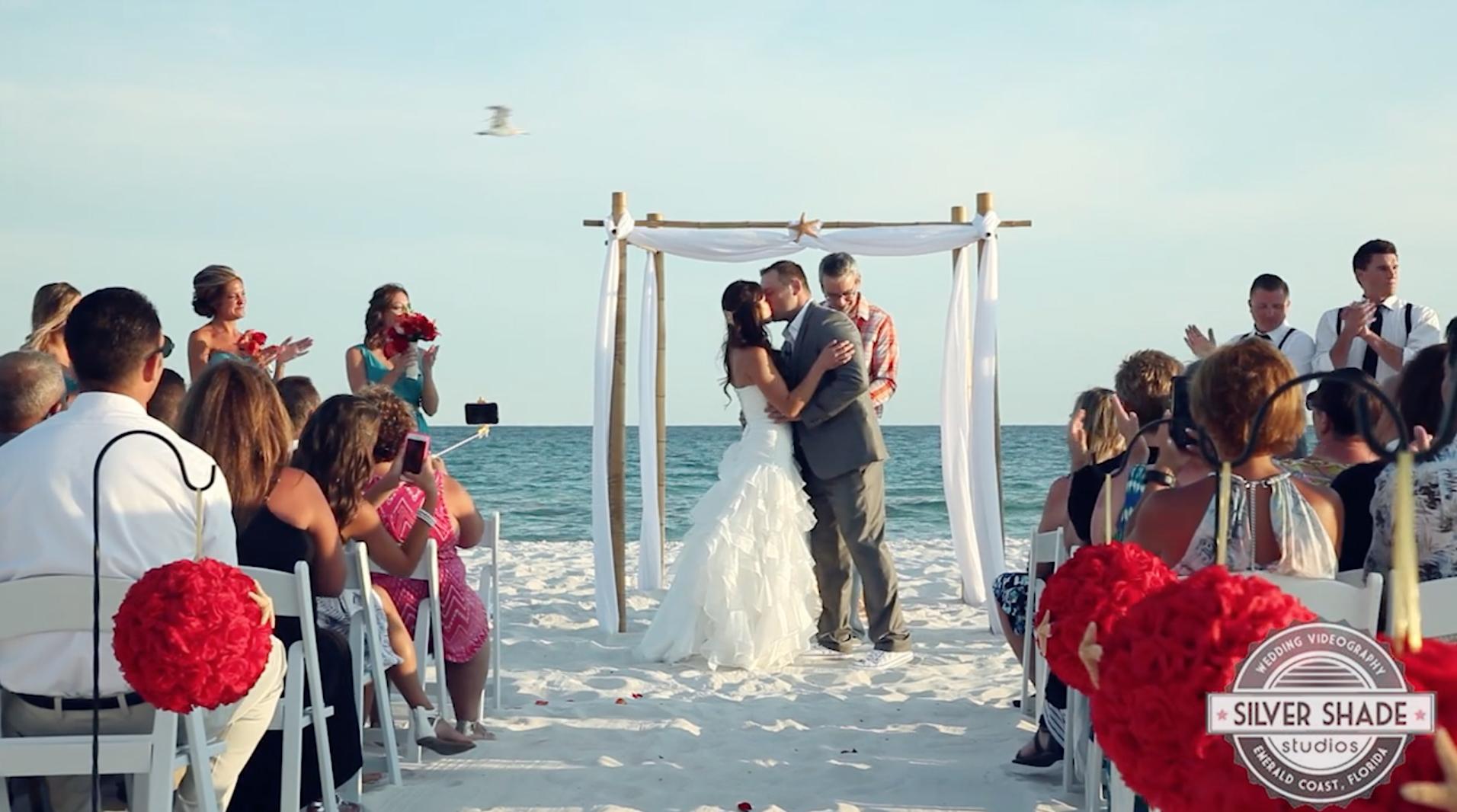 Hilton Pensacola Beach Wedding Sam Trista Silver Shade
